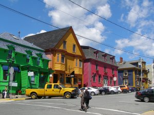 Some of the colourful buildings.