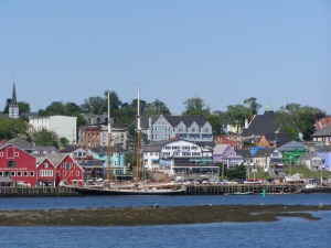 The Lunenburg waterfront.
