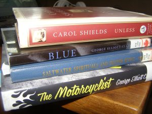 I recommend the poetry collections Blue and Saltwater Spirituals and Deeper Blues for fans of poetry and George Elliot Clarke. I also read my bonus book Unless by Carol Shields. Review to come. Hint: It's lovely.