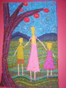 Laura made this rug of my kids for me a few years ago. My favourite. :)